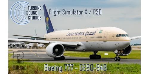 Turbine Sound Studios Boeing 777 GE-90-94B Pilot Edition sound package for  FSX / P3D